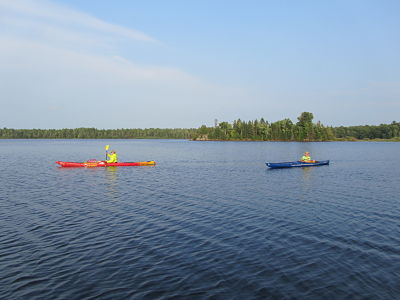 Staff outing at Gile Flowage