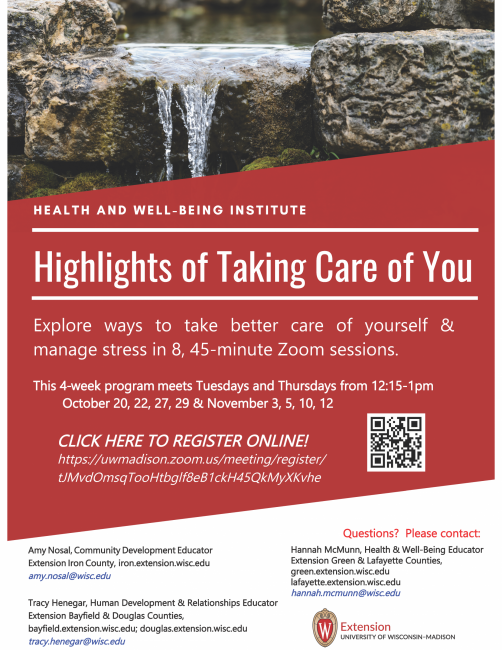 taking care of you flyer